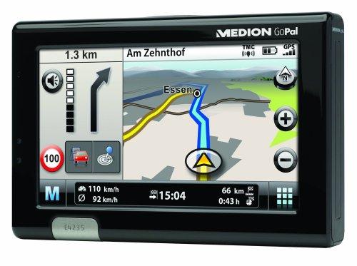 Medion Gopal E4235 WEU Navigationssystem (10,9 cm (4,3 Zoll) Display, Kartenmaterial Westeuropa, TMC, Text-to-Speech)