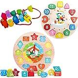Liuer Juguetes Montessori Tablero 2PCS Juego de Madera Puzzl