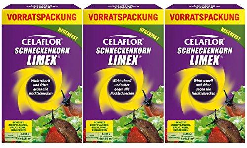 Celaflor Schneckenkorn Limex 3 x 1 kg Vorratspackung
