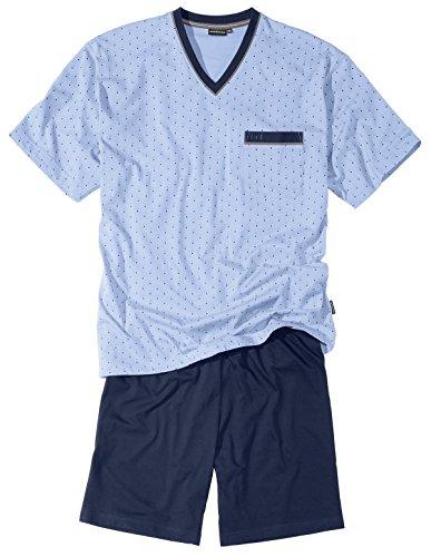 Götzburg Herren Shorty, Kurzarm, Baumwolle Single Jersey, blau Bedruckt 56