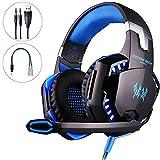 Mbylxk PS4 Gaming Headset Kopfhörer 3,5 mm mit Mikrofon für PS4, Xbox One, PC, teilweise auch...