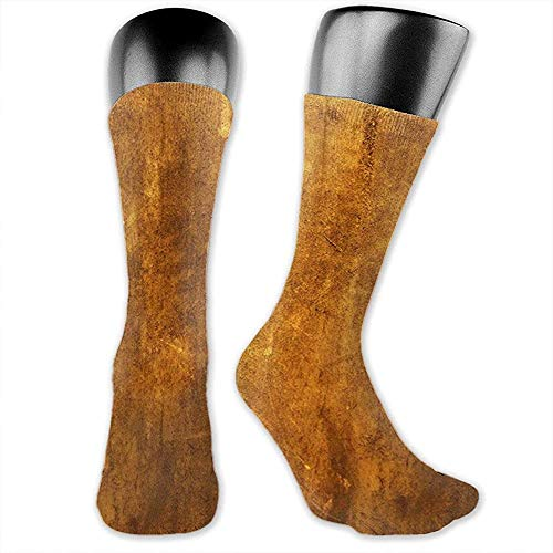 Warm-Breeze Womens Mens Crew Socks Brown Vintage Rusted Metal Texture Novelty Ankle Sports Compression Socks