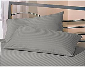 AVI Super Classic 2 Piece Pillow with 2 Pillow Cover Set for 5 Star Hotel Feel, Grey (20 * 36in)