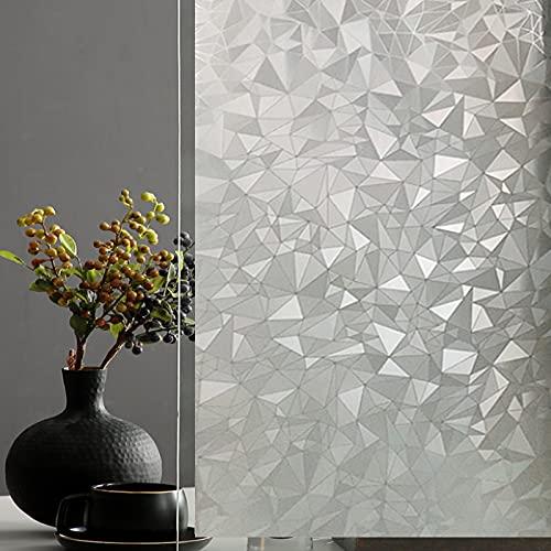 AILANDA Vinilo Película Cristal Ventana Autoadhesivo Privacidad Pegatina Decorativas para Electrostatica Translucido Anti UV-para hogar Cocina baño