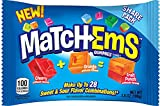 Match-Ems Gummies Candy From Bazooka, Mix, Match & Connect Assorted Sour & Fruit Flavors, 3.8 Oz, 4Count