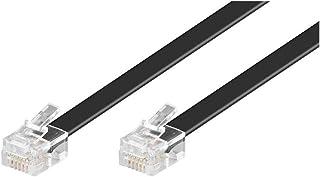 Goobay 50321 Modulaire aansluitkabel 3 meter, zwart - RJ12-stekker (6P6C) naar RJ12-stekker (6P6C)