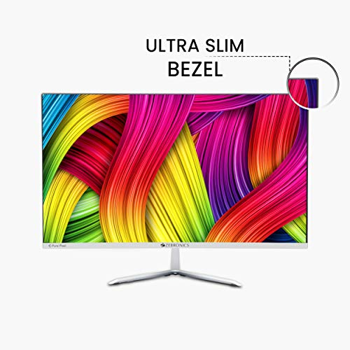 Zebronics 24 inch (60.4 cm) LED Monitor with Full HD Display, HDMI and VGA Port, built in Speaker, Slim Bezel, Metal Stand and Wall Mountable - Zeb-A24FHD LED