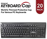 Fully Covered Flat Style Easily Sanitized Universal 0.025mm Wipeable Superb Tactile Feeling Waterproof Anti-Dust Keyboard Cap Cover for Desktop Keyboard with Numeric Hospital/Dentist Use [20 Pack]