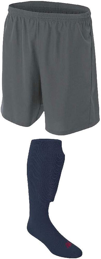 Industry No. 1 A4 Sportswear Graphite Award Adult Medium Shorts Socks Soccer Navy