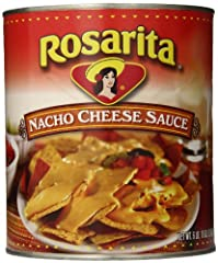 Contains six 106-ounce cans of Rosarita Nacho Cheese Sauce Bulk order of nacho cheese for food service and restaurant businesses Creamy, cheesy sauce for nachos, tacos, sandwiches and more Quickly heat in the microwave or in a pump dispenser for easy...