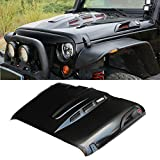 MAIKER The Avenger Style Replacement Hood Heat Dispersion Fits for 2007-2017 Jeep Wrangler JK JKU...