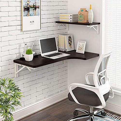 Mesa plegable de pared plegable Mesa de pared de madera maciza Mesa de comedor de cocina Estación de trabajo plegable Escritorio de computadora Mesa de aprendizaje Mesa de estudio Mesa de caballete