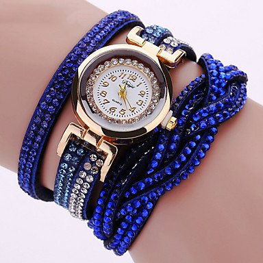 XKC-watches Herrenuhren, Damen Modeuhr/Armbanduhr/Armband-Uhr Quartz Punk/Mehrfarbig PU BandVintage/Glanz/Eiffelturm/Böhmische/Bettelarmband/Cool
