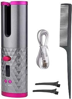 الة تجعيد الشعر لاسلكية محمولة عالية الكفاءة مع 6 درجات حرارة واعدادات مؤقت، تجعيد الشعر ولفه من اينو تيك