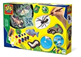 SES- Set de moldear y Pintar Animales terroríficos Que Brillan en la Oscuridad para niños, Multicolor (01153)