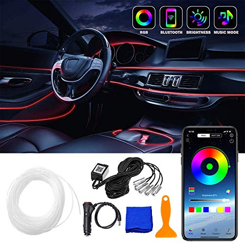 Anyingkai Iluminación LED Interior para Coche,LED Coche Interior Tiras,Tiras LED Coche,Iluminación Interior LED Coche,LED...