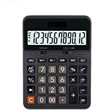 $54 » Rnwen Calculator Business Office Calculator Computer 12-Digit Large Keys Suitable for Daily Office Basic (Color : Black, S...