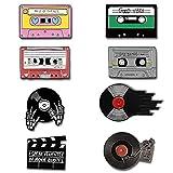 8 Stück Emaille Brosche Pins, Brosche Cartoon Emaille Pin, Emaille Anstecknadel, Kinder Pins Kindermode Kragen Abzeichen Kleidersack Jacke Dekoration