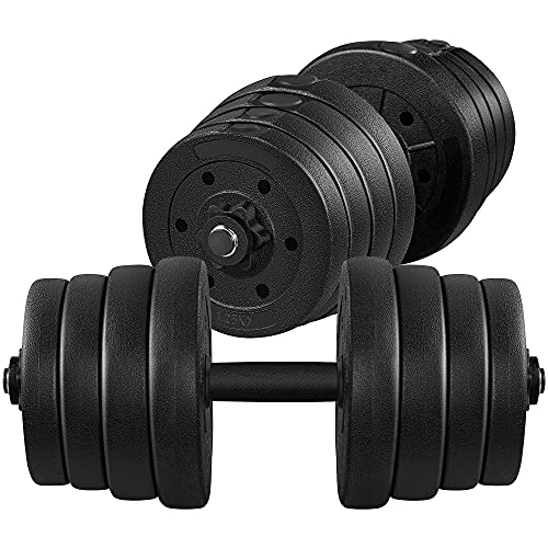 Topeakmart 66LB Adjustable Dumbbell Weight Set Strength Training Equipment for Women & Men in Home Gym Muscle Body Training
