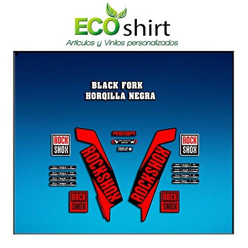 Ecoshirt 05-OYW-AM4X Aufkleber Stickers Gabel Rock Shox Reba 2016 Am111 Fork Aufkleber Decals Autocollants Adesivi Forcela Gabel Fourche, Rot