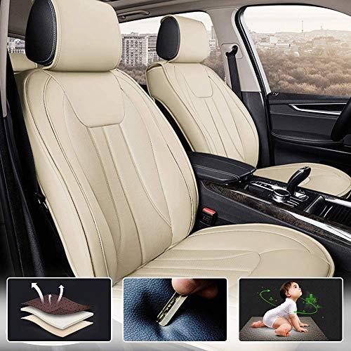 Muchkey Fundas de Asiento de Piel Coche para Benz, Juego Completo de Fundas para Asientos Delanteros y Traseros compatibles con airbag