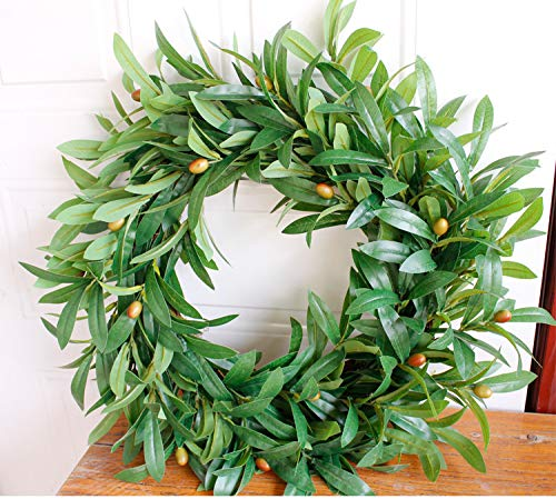Wegji Kleine Olivenkranz-Simulation Blumentürdekoration Olivenfrucht-Hochzeitsfotografie