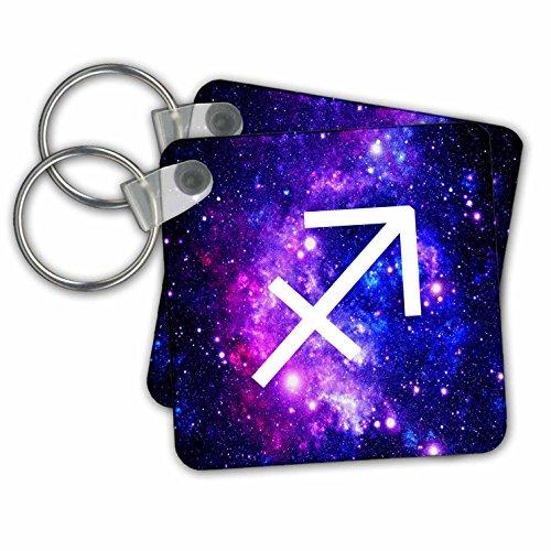 3drose bescherming sterrenbeeld op lila plaats achtergrond – sterrenbeeld symbool – sleutel kettingen, 5,7 x 5,7 cm, set 2 stuks (KC 202175 1)