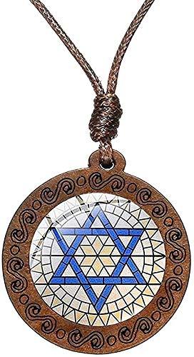 NC83 Collar Mano de Miriam Colgante Collar Joyas Color oro puro Mano Fátima Cadena Estrella Israel Colgante Unisex Regalo Collar Regalo