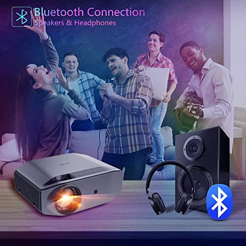 "Proyector WiFi Bluetooth 8000 Lúmenes, Artlii Energon2 Proyector Full HD 1920x1080P Nativo Soporta 4K, 300"" Proyector Cine en Casa, para Smartphone Android y iPhone"