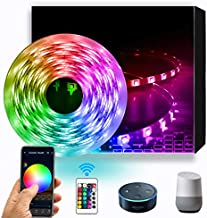 Daybetter 16.4ft 5m Led Strip Lights, Flexible Color Changing 5050 RGB 150 LEDs Light Strips Kit Work with App