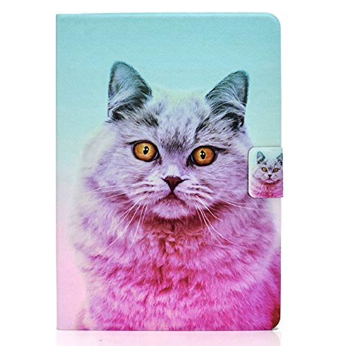 JIan Ying Case for iPad mini (2019)/iPad mini 5/4/3/2/1 Slim Lightweight Protective Protector Cover Pink cat