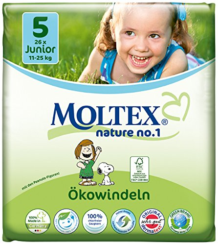 Moltex Nature no. 1 Junior Paquet de 26 couches écologiques