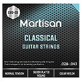 MARTISAN klassische Gitarrensaiten Konzertgitarre, Saiten aus Nylon und Silber für klassische...