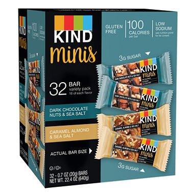 KIND Minis granola bar カインドグラノーラバーバラエティーパック640g(20g x 32) [並行輸入品]