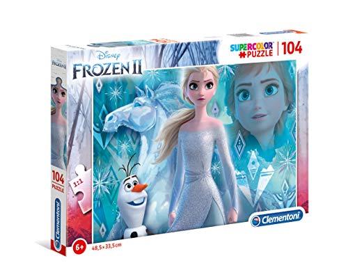 Clementoni- Puzzle 104 Piezas Frozen 2, Multicolor (27127.6)