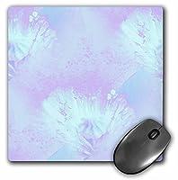 3drose LLC 8x 8x 0.25インチマウスパッド、アクア/パープルPoppy Floral Art (MP 26147_ 1)