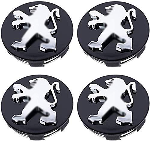 4 StüCk 60mm Auto Nabenabdeckung Radmitte Radkappen Logo Emblem FüR Peugeot 307 408 207 205 206 407 107 308 4008 507 508 5008 301