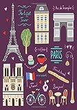 PARIS: The Eiffel Tower, Coffee, French Bread, Arc De Triomphe, Croissant, Macaroons, Bonjour, Vive la Fance!