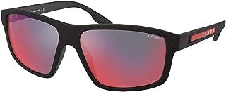 نظارات شمسية من برادا ليني روسا PS 2 XS DG008F مطاط أسود