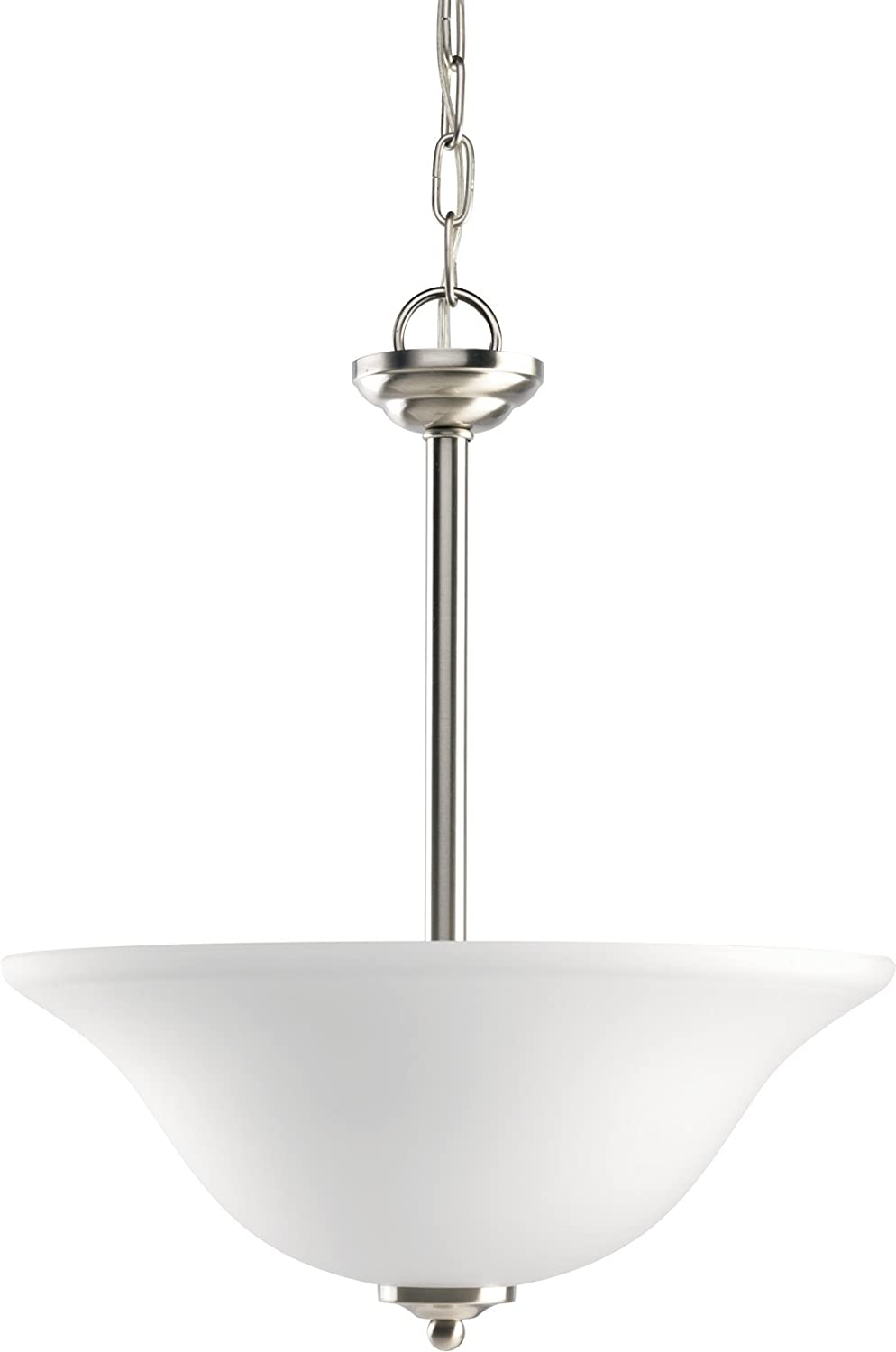 HomeStyle HS47007-09 Medium Chain Hung Foyer-CFL (w bulb) in Brushed Nickel