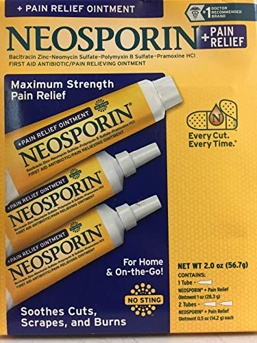 Neosporin Pain Relief Ointment Maximum Strength 2 oz Total
