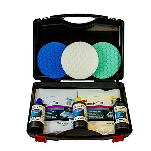 Preisvergleich Produktbild 3M Politur Set im Koffer zur Lackaufbereitung