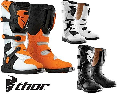 Thor Off Road Boots S14 Blitz MX Motorrad Stiefel Moto Cross Quad Rennstiefel Enduro Sportschuhe - White - 9