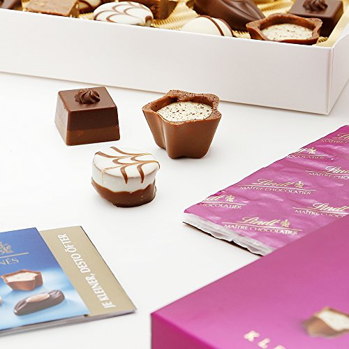 リンツ(Lindt)チョコレートミニプラリネ100gピンクショッピングバッグS付