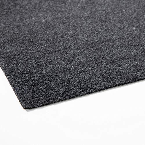 Rasenteppich Farbwunder Pro | Balkonteppich | Kunstrasenteppich für Terrasse, Balkon und Freizeit | Erhältlich in 7 Farben (200 x 400 cm, Schwarz)