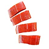 Fresh Frozen Wild Alaskan Sockeye Salmon by Northwest Wild Foods - Lean, Boneless, Skin-on, Sustainably Harvested (12 x 6 Ounce Fillets)