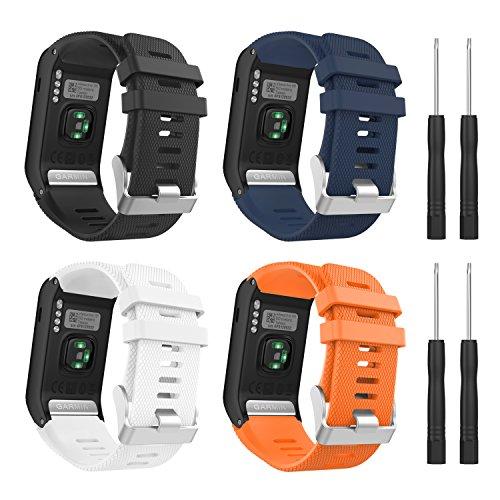 MoKo Ersatzarmbänder für Garmin Vivoactive HR, [2 Pack] Weiches Silikon Ersatz Band Uhrenarmband für Garmin Vivoactive HR Sports GPS Smart Watch mit Adapter Werkzeug, Multicolor A