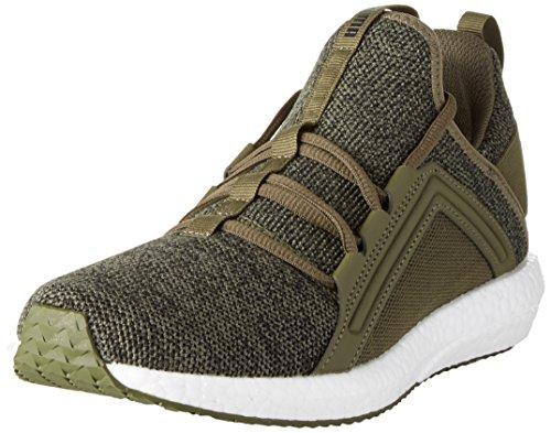 Puma Men's Mega Nrgy Knit Olive Night-Puma Black Running Shoes - 8 UK/India (42 EU)