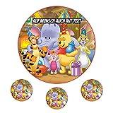 Tortenaufleger aus Zuckerpapier - Tortenbild Geburtstag Tortenplatte Zuckerbild Motiv: Winnie Pooh