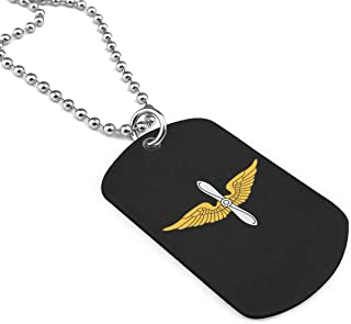 Wing Army Aviation Branch Vintage Military Necklace Pendant Jewelry Army Card Dog Tags Keyring